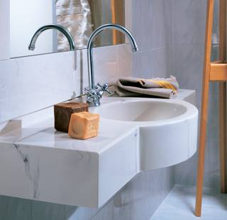 lavabo bianco Marlux a una vasca