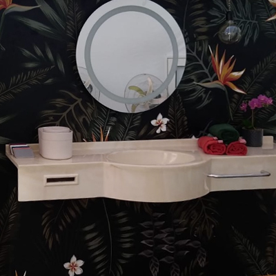 Lavabo a una vasca marlux in marmoresina