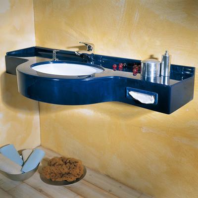 lavabo a una vsca blu