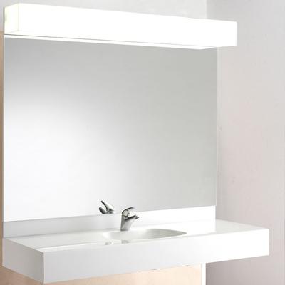 Lavabo in marmoresina con specchiera luminosa marlux