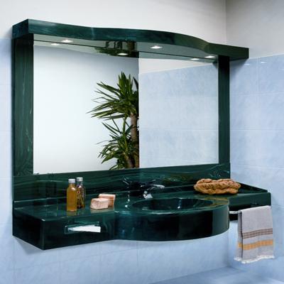 lavabo verde a una vasca marlux