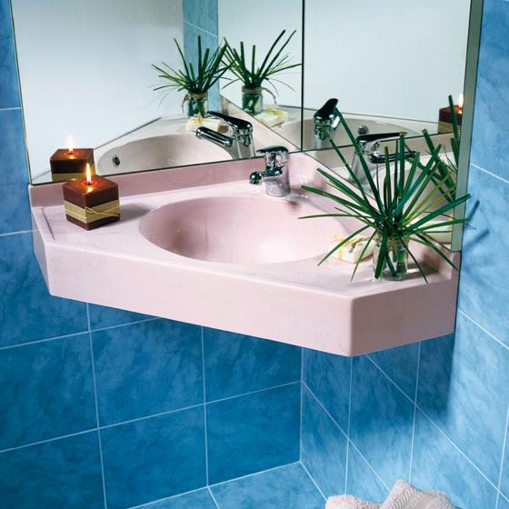 Lavabo serie minima rosa Marlux